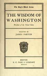 Cover of: The wisdom of Washington