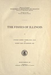 Cover of: The fishes of Illinois