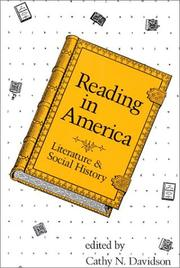 Cover of: Reading in America |