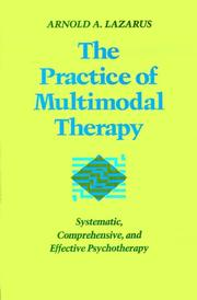 Cover of: The practice of multimodal therapy
