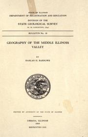 Cover of: Geography of the middle Illinois valley