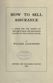 Cover of: How to sell assurance