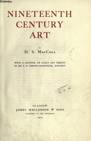 Cover of: Nineteenth century art