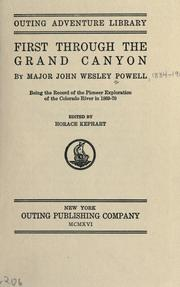 Cover of: First through the Grand Canyon