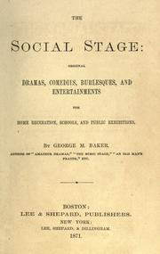 Cover of: The social stage by Baker, George Melville