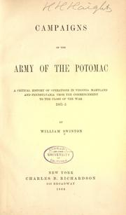 Campaigns of the Army of the Potomac by Swinton, William