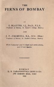 The ferns of Bombay by Ethelbert Blatter