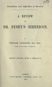 Cover of: A r eview of Dr. Pusey's Eirenicon