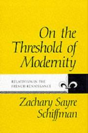 Cover of: On the threshold of modernity