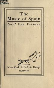Cover of: The music of Spain