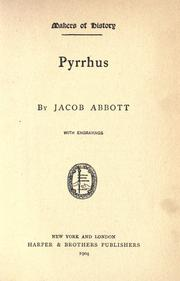 Pyrrhus by Jacob Abbott