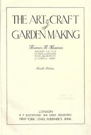 Cover of: The art & craft of garden making | Thomas Hayton Mawson