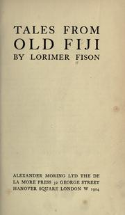 Cover of: Tales from old Fiji
