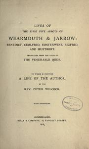 Cover of: Lives of the first five abbots of Wearmouth & Jarrow