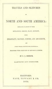Cover of: Travels and sketches in North and South America ..