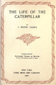 Cover of: The life of the caterpillar