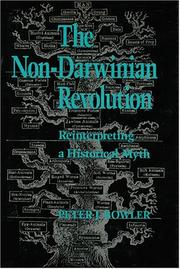 Cover of: The non-Darwinian revolution