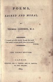 Cover of: Poems, sacred and moral