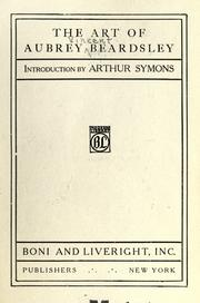Cover of: The art of Aubrey Beardsley