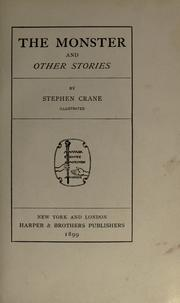 Cover of: The monster and other stories