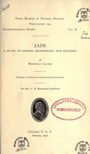 Cover of: Jade | Berthold Laufer
