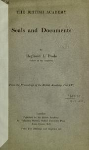 Cover of: Seals and documents