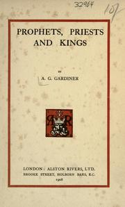 Cover of: Prophets, priests, & kings