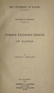 Cover of: Common injurious insects of Kansas