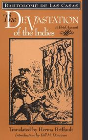 Cover of: The devastation of the Indies