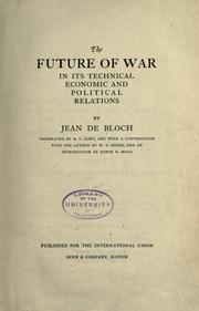 Cover of: The future of war