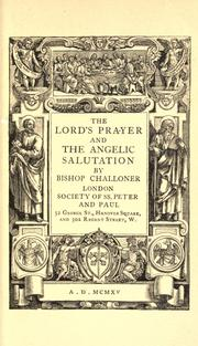 Cover of: The Lord's prayer and the Angelic salutation. | Richard Challoner