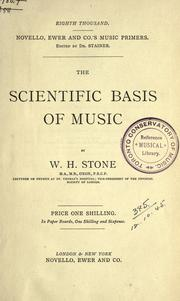 Cover of: The scientific basis of music