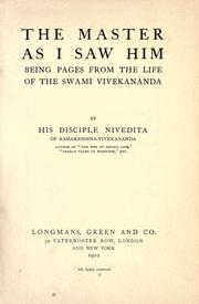 Cover of: The master as I saw him
