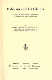 Cover of: Bahaism and its claims