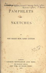 Cover of: Pamphlets and sketches