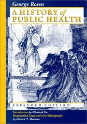 Cover of: A history of public health