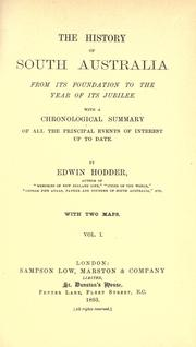 Cover of: The history of South Australia from its foundation to the year of its jubilee