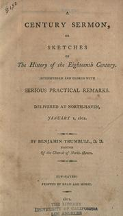 Cover of: A century sermon