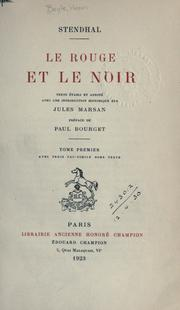 Cover of: Le rouge et le noir [par] Stendhal