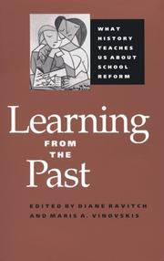 Cover of: Learning from the past |