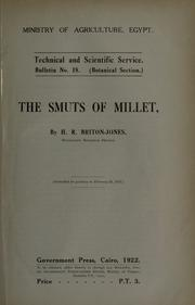 Cover of: The smuts of millet