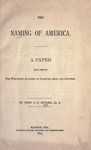 Cover of: The naming of America