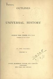 Cover of: Outlines of universal history