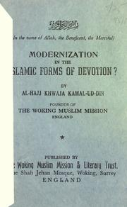 Cover of: Modernization in the Islamic forms of devotion?