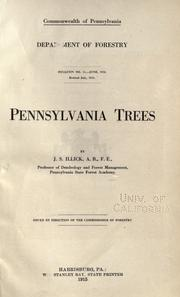 Pennsylvania trees by Illick, Joseph Simon