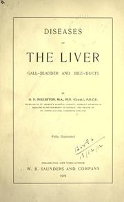 Cover of: Diseases of the liver, gall-bladder and bile-ducts