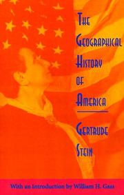 Cover of: The geographical history of America, or, The relation of human nature to the human mind