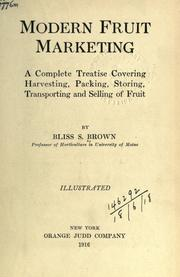 Modern fruit marketing by Brown, Bliss S.