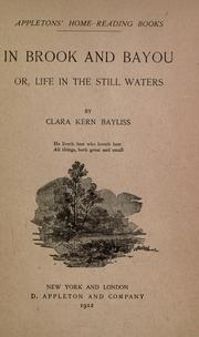 Cover of: In brook and bayou; or, Life in the still waters
