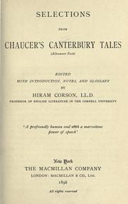 Cover of: Selections from Chaucer's Canterbury tales: (Ellesmere text)
